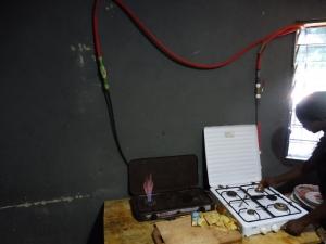 Gasherd aus Biogasanlage gespeist