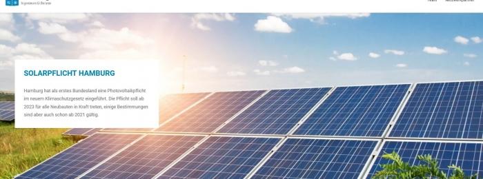 Solarpflicht für Hamburg tritt in Kraft